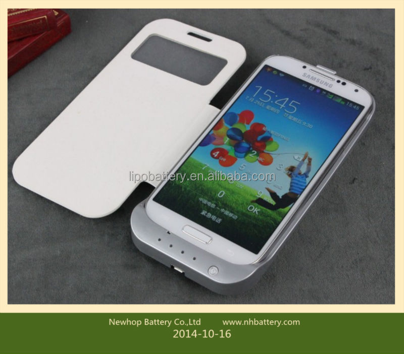 3500mAh Samsung galaxy s4 battery cover leather battery back cover for samsung galaxy s4 mini