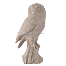 Resin sand stone owl figurine home garden decoration craft novelty house crafts 12163