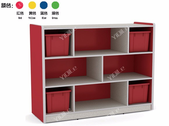 Modern school classroom indoor wooden toy children storage