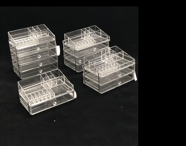 Cosmetic container acrylic display