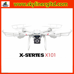 6 Axis gyro 2.4Ghz MJX X101 headless FPV rc quadcopter with hd camera