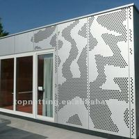perforated metal mesh sun facade