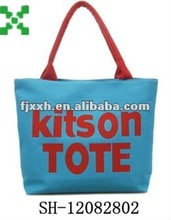 blue canvas Enviro shopping tote bags