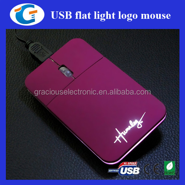 Wholesale computer accessories flat optical mouse for laptop