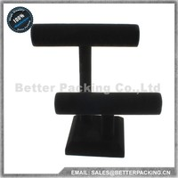DS002H Black Velvet Wooden Detachable Jewelry Watch Bangle Bracelet Display Stand