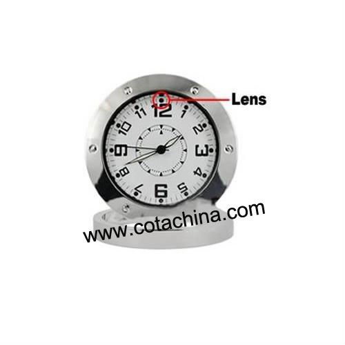 Metal Clock Camera,Voice Recording CT1109
