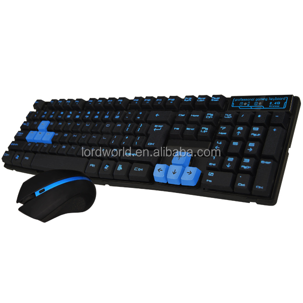 2.4GHz Wireless Standard Keyboard + 3D Optical Wireless Mouse for gaming
