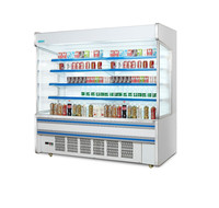 upright multideck beverage open air cooler/ display open front showcase