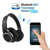New headband stereo bluetooth headphone with microphone universal wireless foldable bluetooth headset for music