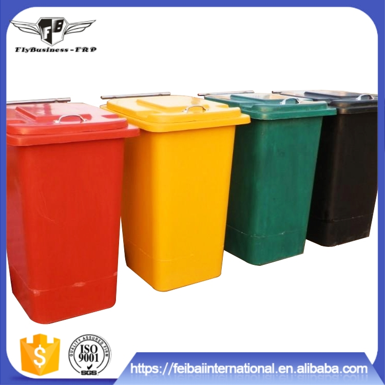 Light Weight High Strength surface gel coat is uniform and smooth outdoor trash bin