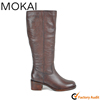 High quality shoes cow leather brown long boots leather shoes real leather boots