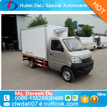 cheaper 1-5Tons LEFT hand driver meat hook refrigerated freeze truck refrigerated cold room van