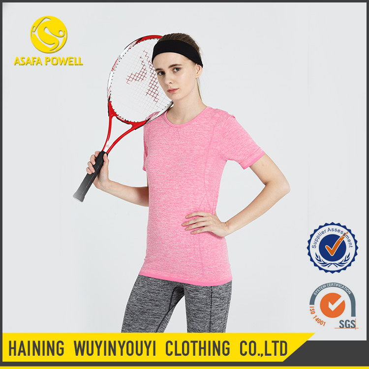 Wholesale Seamless Sports T Shirt Active Wear