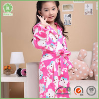 Promotion China Fluffy Flannel Kids Bathrobe