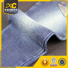 high stretch satin indigo dyed knit denim fabric