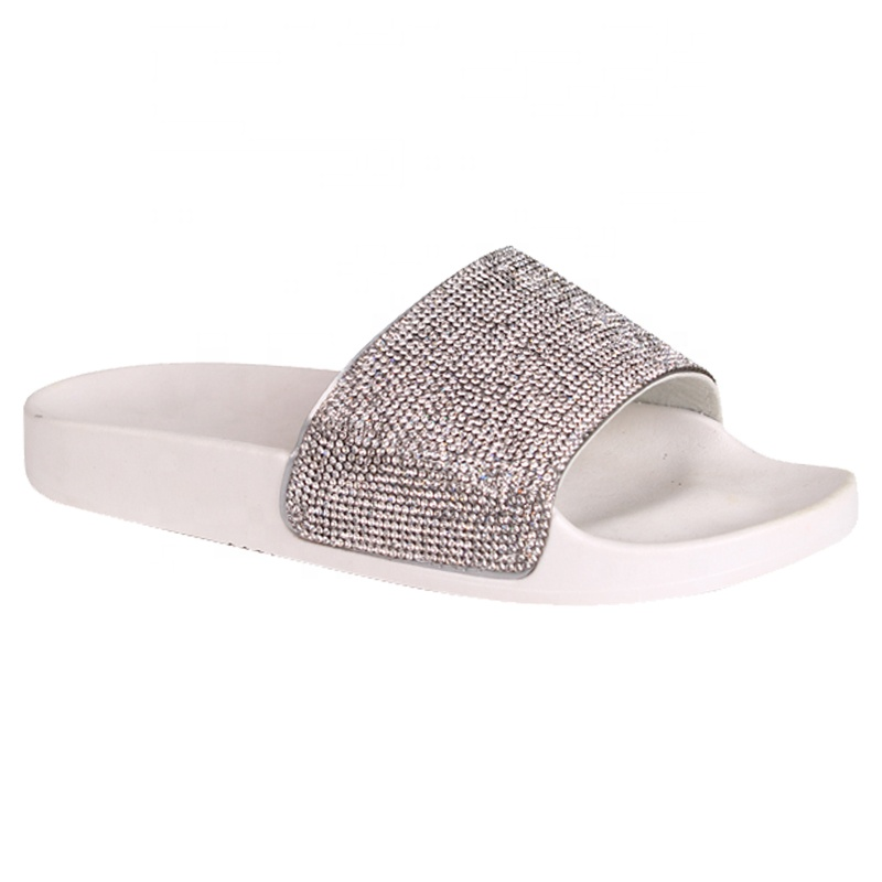 2018 lady sandals diamond <strong>slides</strong>