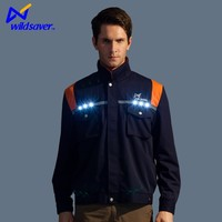 LED lights custom security reflective tapes us navy work jacket