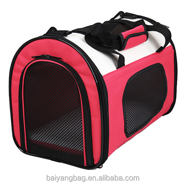 Foldable washable pet travel bag soft portable dog carrier