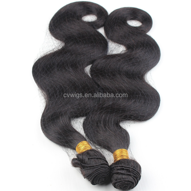 New products 2016 high quality hand tied weft peruvian body wave hair