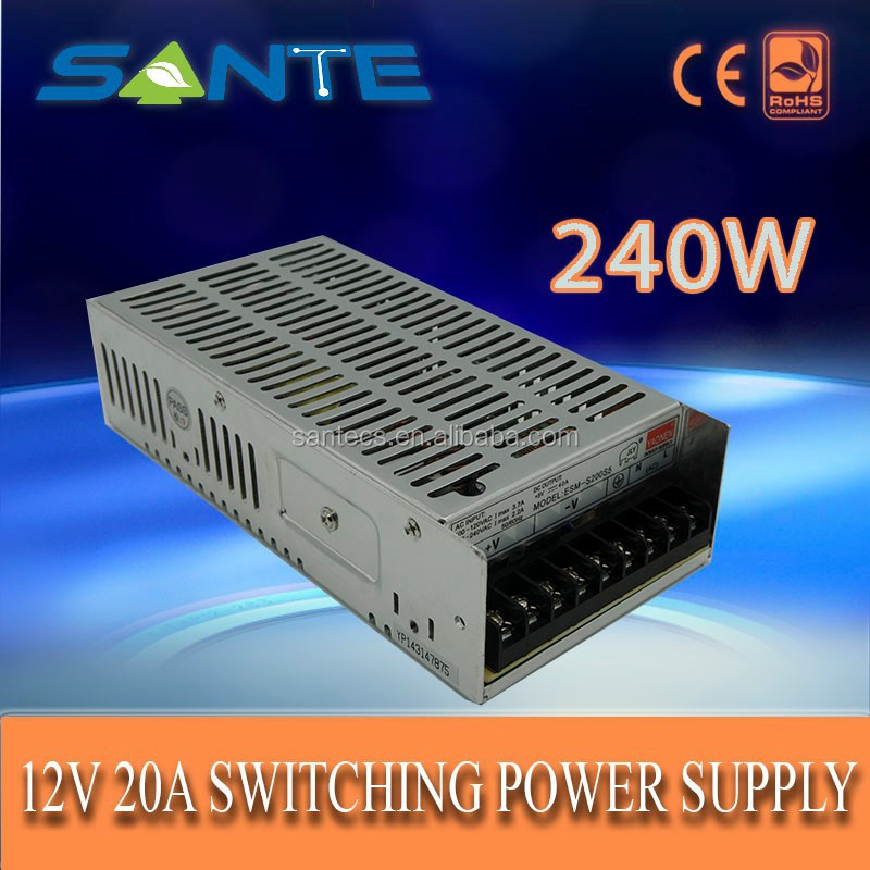 Specialized 176-240V AC 12V DC 20A 240W mini smps power supply