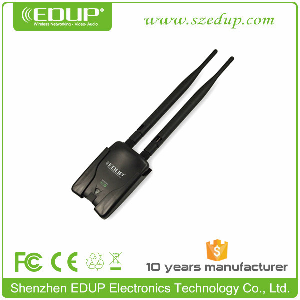 EDUP 2T2R 802.11 N Wlan 8000mw Wifi USB Wireless Adapter With Driver