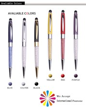 Xinghao brand fashion metal pen promotional bling stylus crystal pen