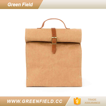 Washable Kraft Paper Lunch Bag For Food