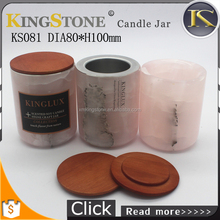 Custom unique colored recycled pink onyx marble candle holders wholesale colour marble candle holder