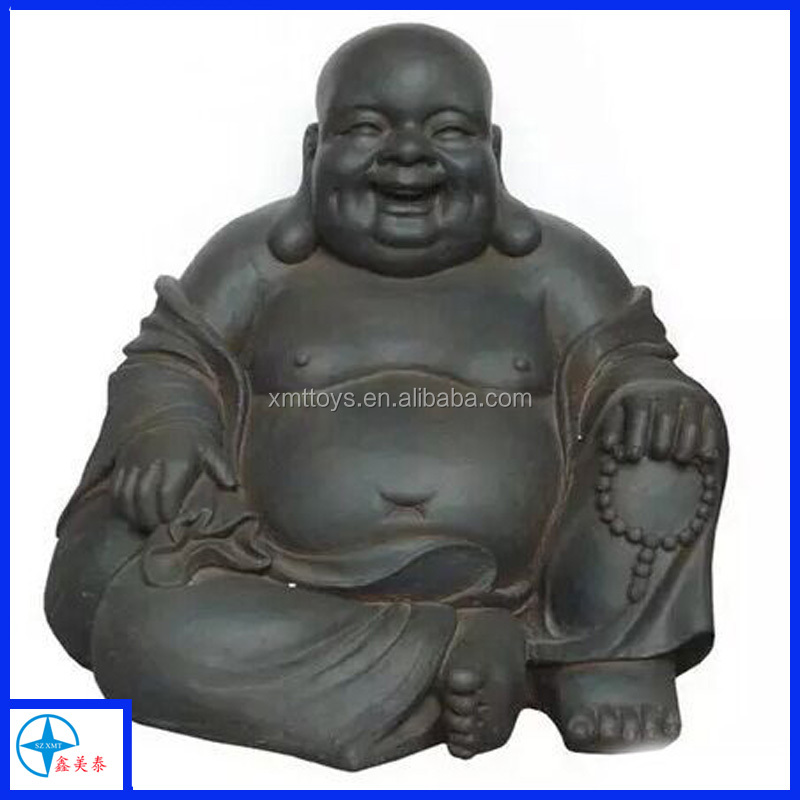 Stone Laughing Buddha Chinese God Statue