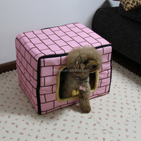 Excellent quality stylish design two sides square pet bed beautiful dog house