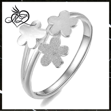 Fashion Stainless Steel Beautiful Finger Flower Ring for Women