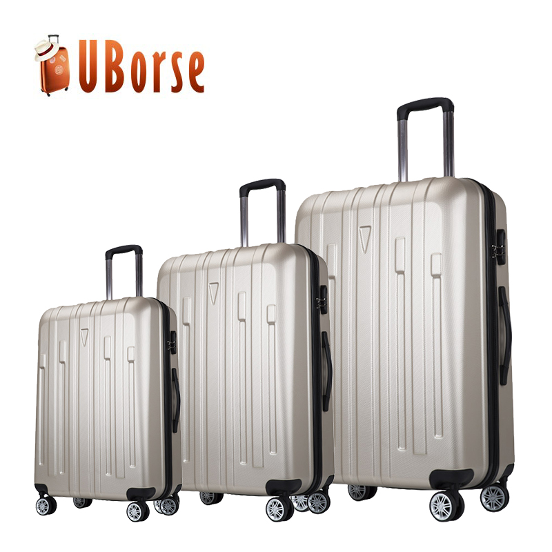 Cheap lightweight zipper polycarbonate luggage abs pc trolley luggage travel luggage bag
