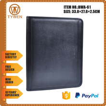 BWA-61 2016 Portfolios, a4 leather portfolio pp expanding file folder made in professional OEM factory