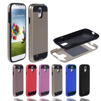 Armor bumper case shockproof 2 in 1 cover aluminium design mobile phone case for Samsung Galaxy S4