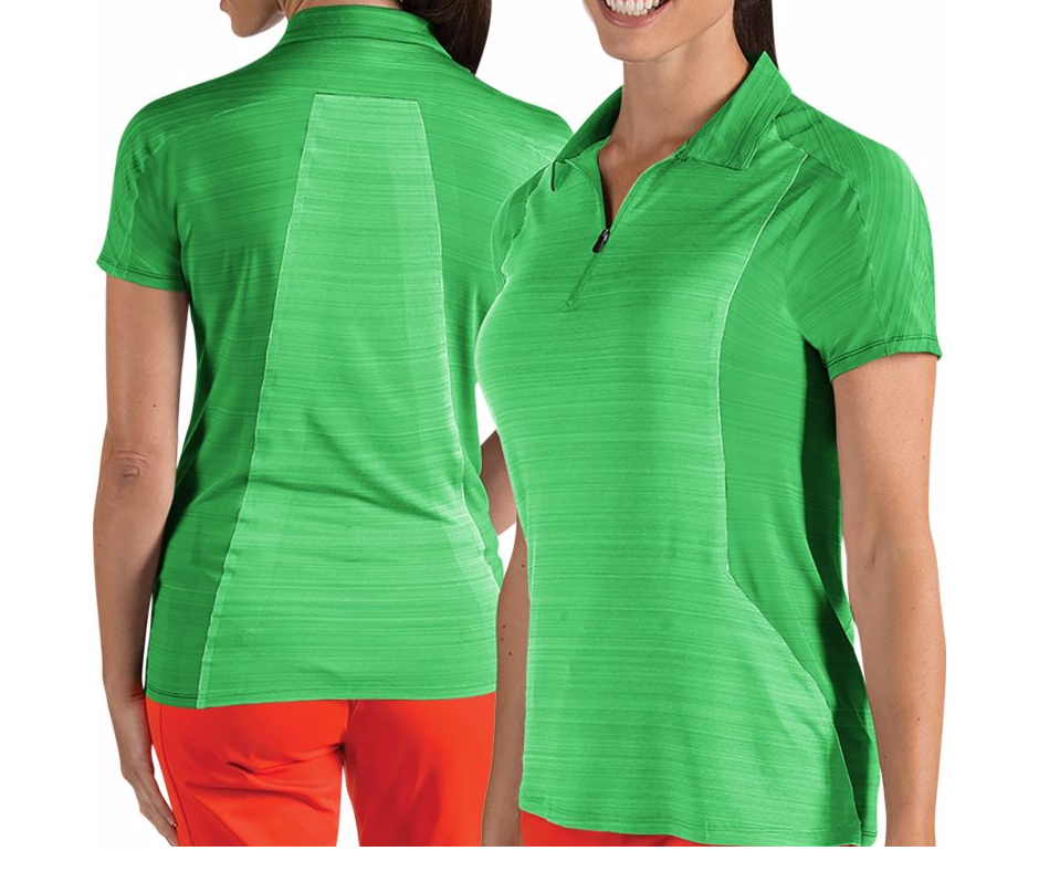 Zipper Neck And V neck Women Sports Running Golf Lady's Athletic Polo T Shirts