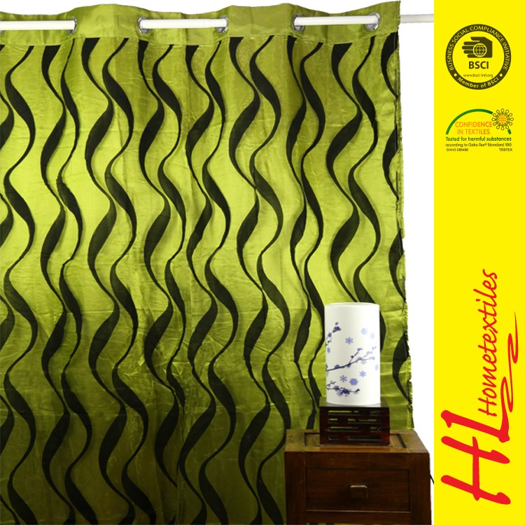 HLHT competitive price floral type luxury curtain,readymade curtain