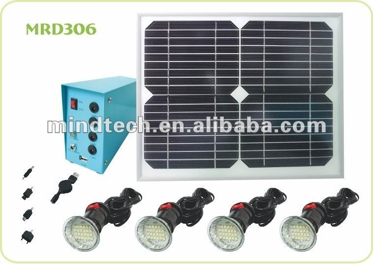 renewable solar home power system and solar light bulb and solar led lighting kit in remote areas
