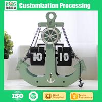 Factory Direct Anchor Flip the Clock Boat Shaped Wall Clock