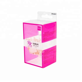 Clear PVC PET Folding Plastic Box for Cosmetics Transparent Blister Boxes Rectangular Printing Packaging Box