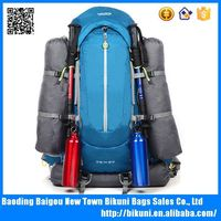 2015 new waterproof 60L large size durable blue camping/hiking backpack