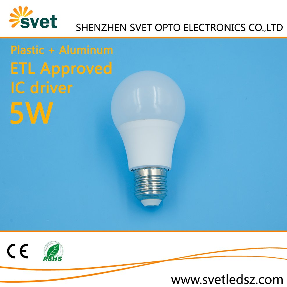 New arrival ultra bright ETL certificated dimmable a19 led light bulb
