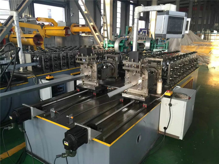 double line light gauge keel stud track c channel steel roll forming machine