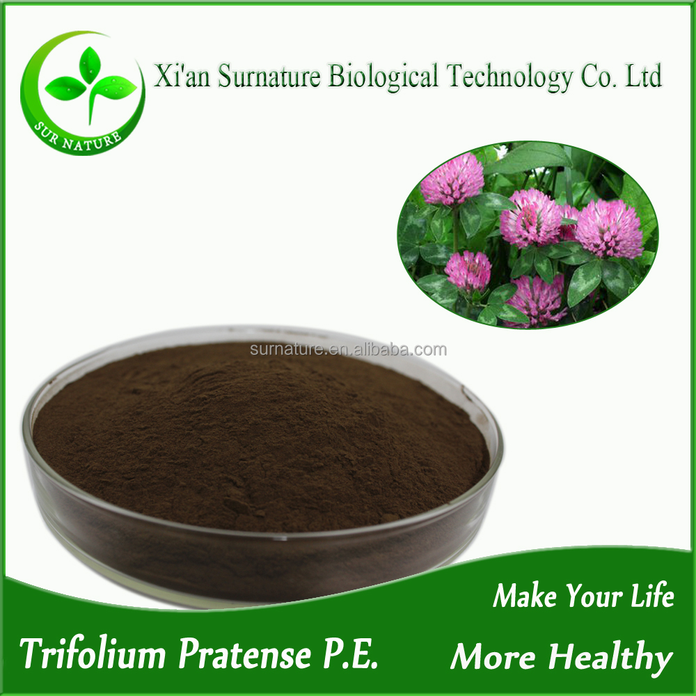 100% Natural Trifolium pratense L extract /Red Clover Extract /Trifolium Extract Isoflavones powder