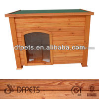 Outdoor Garden Dog Kennel With Curtain DFD025