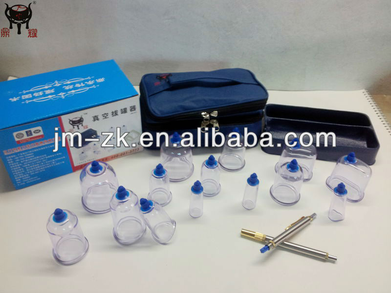 Chinese wet cupping set with blood lancet pen lancing device