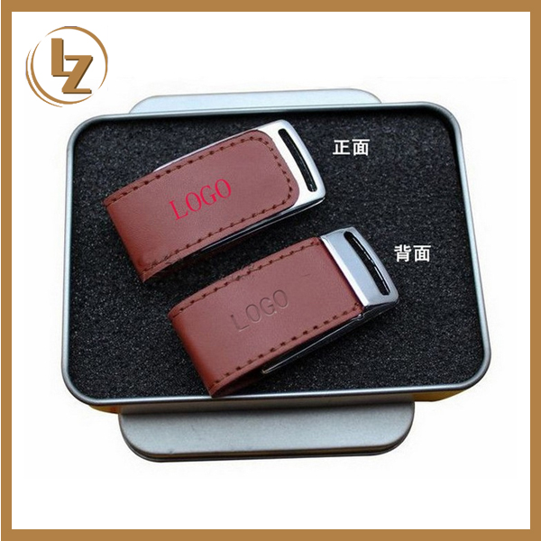 8GB Leather USB Flash Drive/Factory Price Chip Set USB Disk Leather