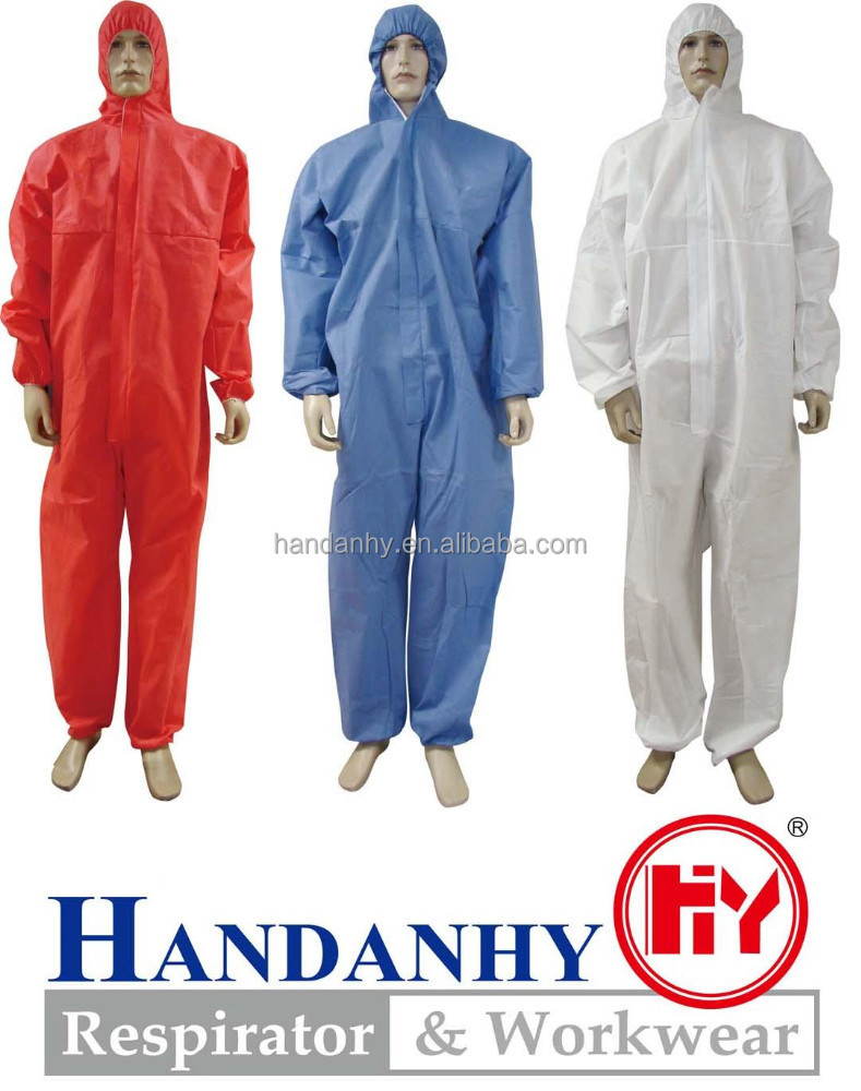 disposable non woven workwear coverall with type5 type 6