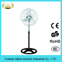3 speed control 4 hole round base ventilating standing industrial fan