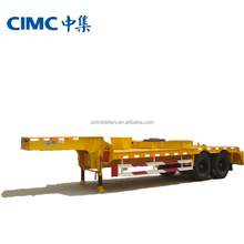 CIMC heavy duty low bed tractor trailers/60-100ton low bed truck trailer