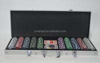 CQ 500 11.5g dice cheap poker chip set in aluminum case